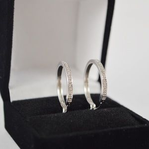 S925 Silver Hooped Earrings